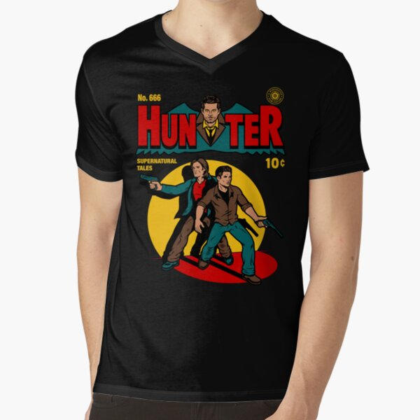 Hunter Comic V-Neck T-Shirt