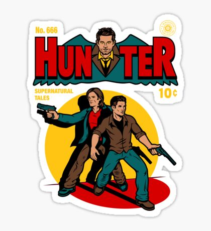 Hunter Comic Sticker