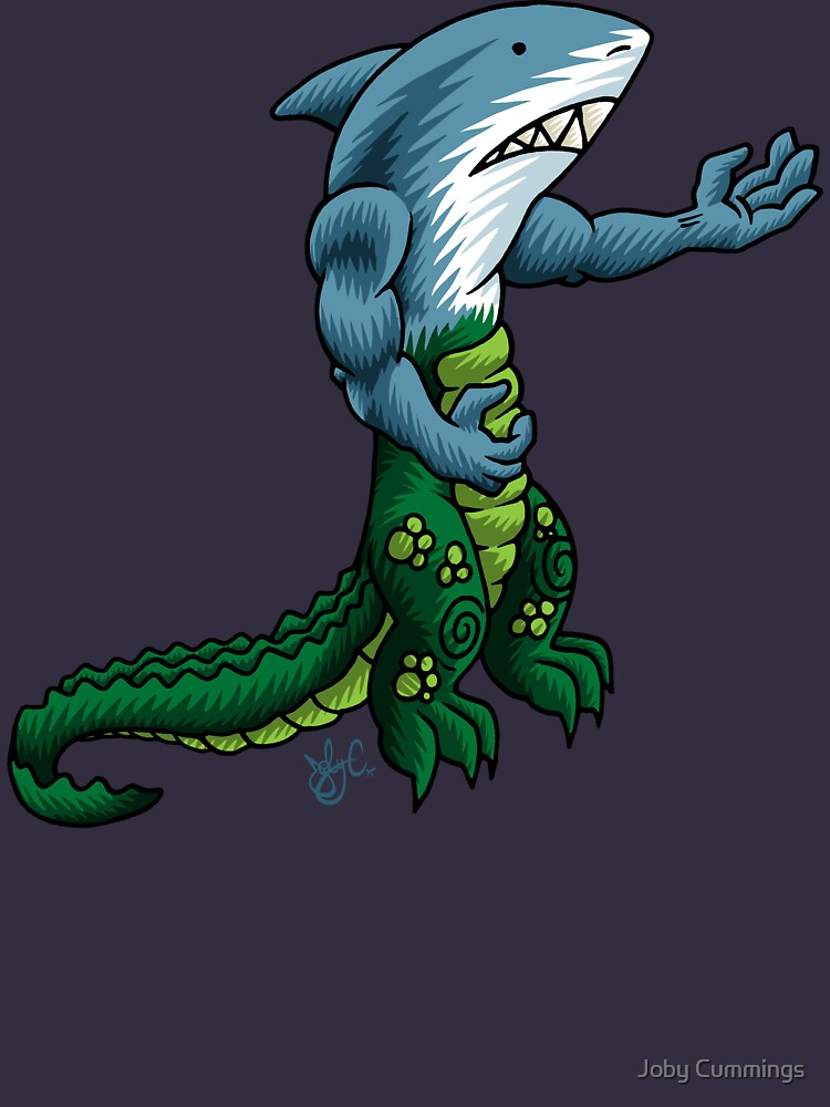 Alligator Shark Man by jabwai