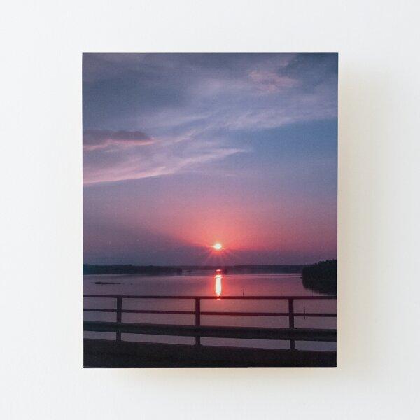 Clear sunrise Wood Mounted Print