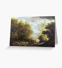 Pictura greeting cards redbubble dan scurtu forest road greeting card m4hsunfo