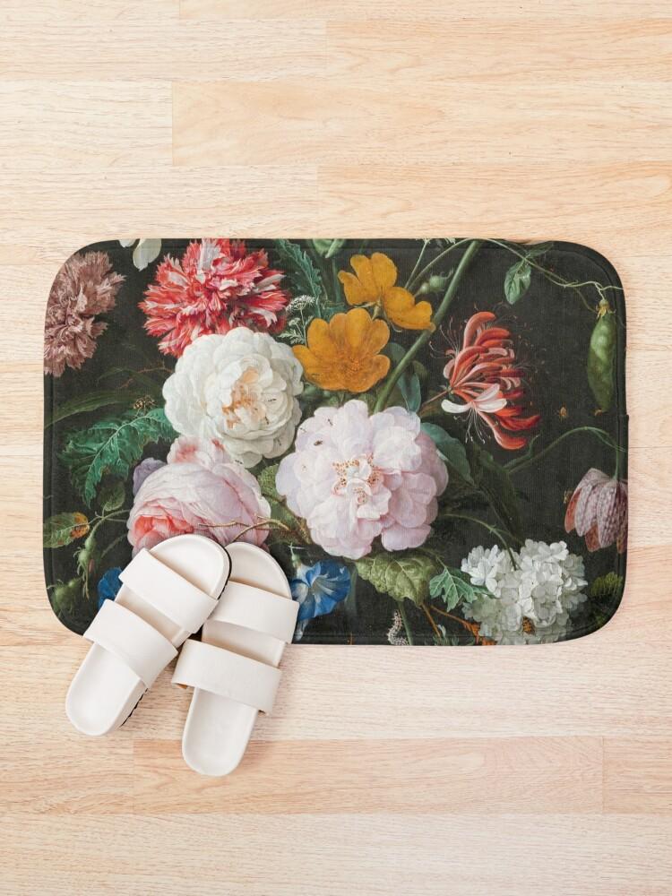 Alternate view of Dutch Golden Age Floral Painting Bath Mat