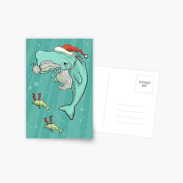 Christmas Whale Postcard