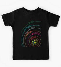 Camiseta para niños Sistema solar