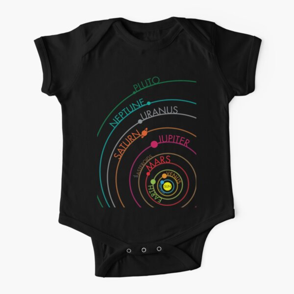Solar System Short Sleeve Baby One-Piece
