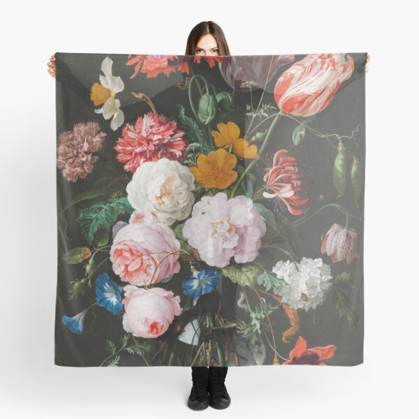Dutch Golden Age Floral Painting Scarf