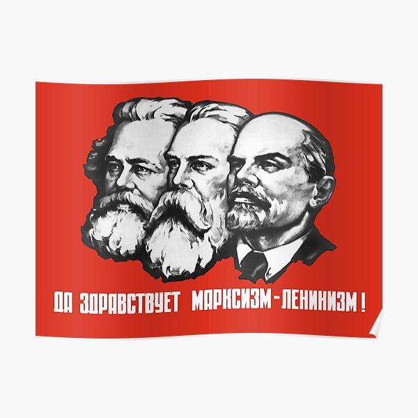 Marx - Engels - Lenin - Sowjetisches Propagandaplakat Poster