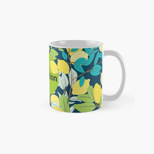 Stock Coalition logo with lemons by Ania Dergachev Classic Mug