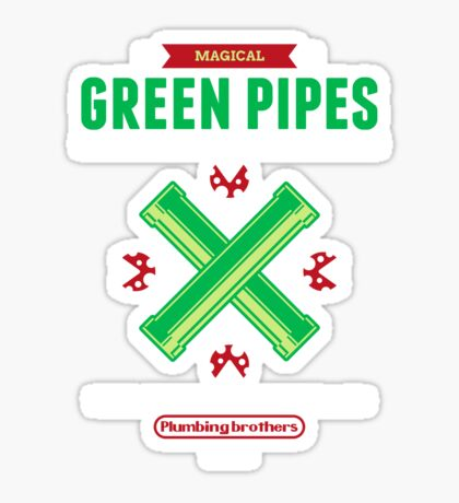 Green Pipes Sticker