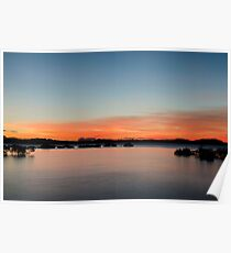 Sunset inlet Poster