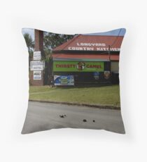 The Thirsty Camel Throw Pillow