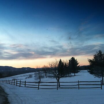 Sunrise in Stowe, Vermont by Rystall
