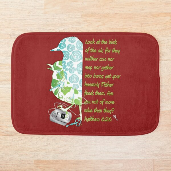 Birds of the Air, Matthew 6:26 Bath Mat
