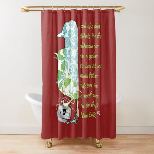 Birds of the Air, Matthew 6:26 Shower Curtain