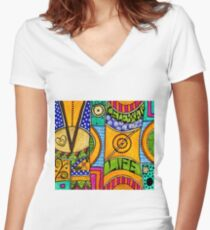 Living a VIBRANT Life Women's Fitted V-Neck T-Shirt