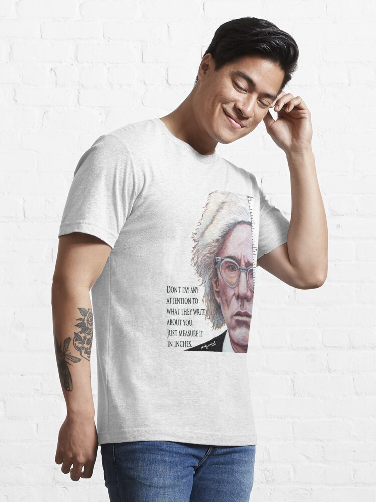 Alternate view of Advice from Warhol Essential T-Shirt