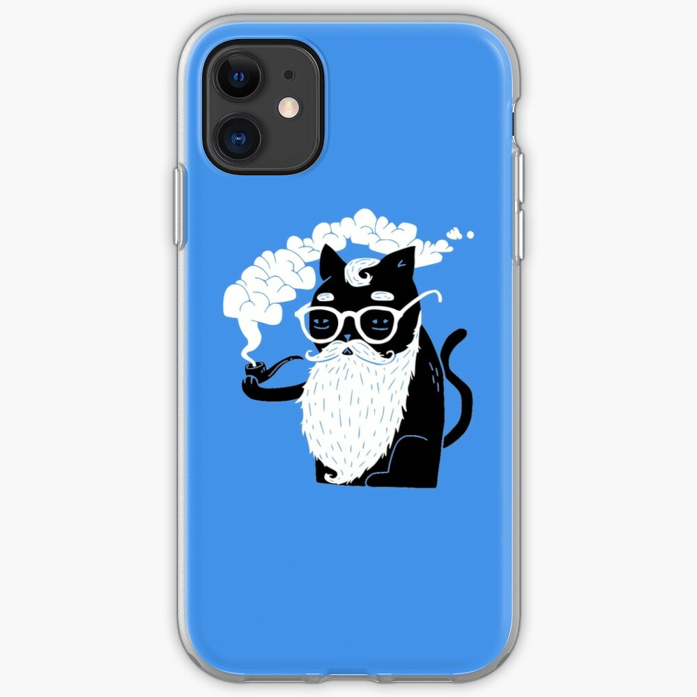 Whiskers And Pipe iPhone Case & Cover