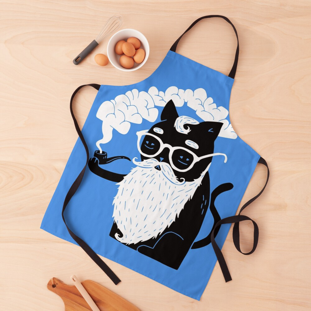 Whiskers And Pipe Apron