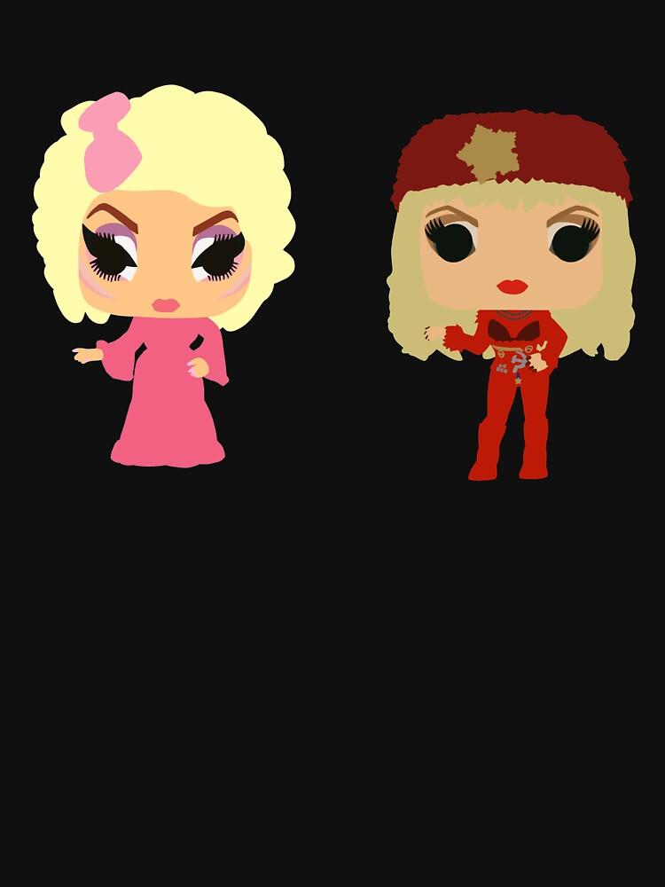 Trixie and Katya Funko Pop UNHhhh by dragraceuk
