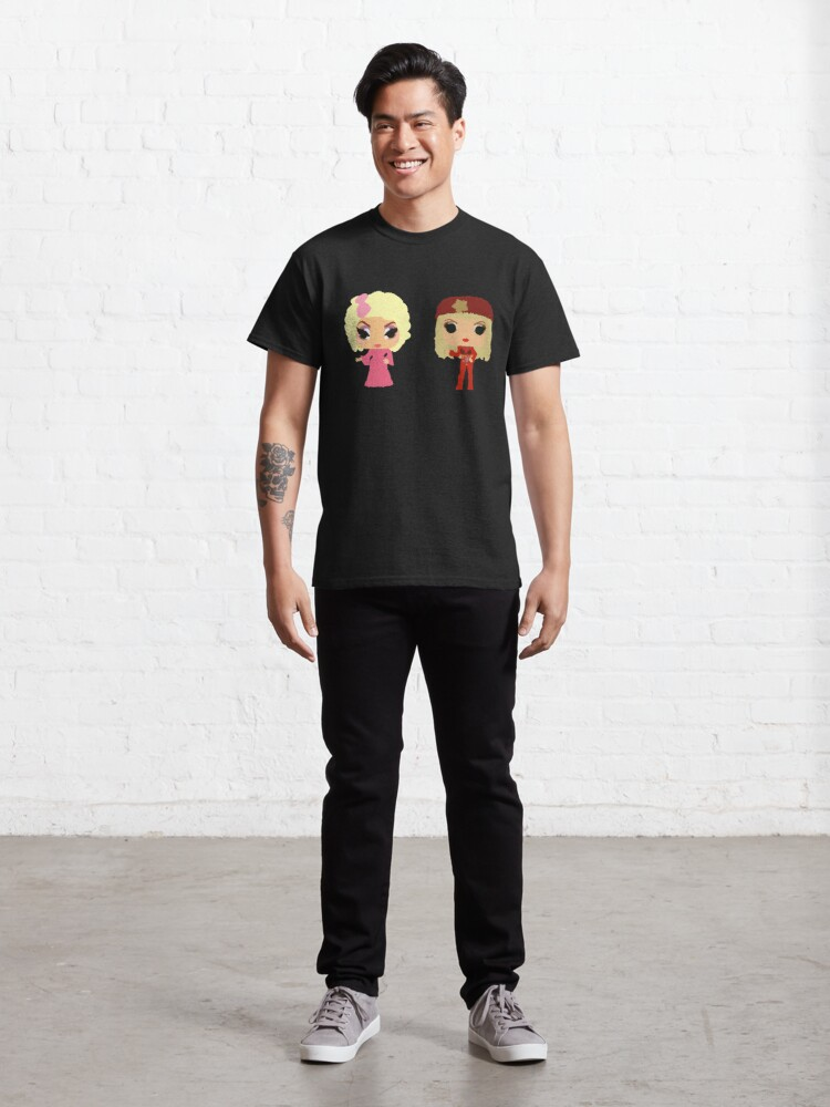 Alternate view of Trixie and Katya Funko Pop UNHhhh Classic T-Shirt