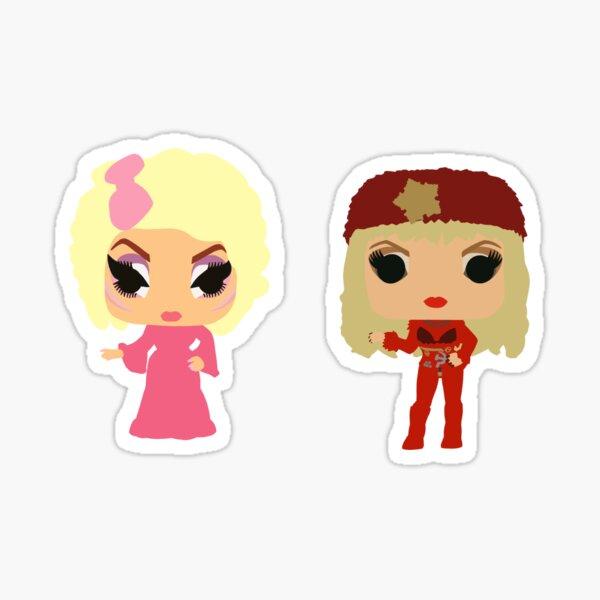 Trixie and Katya Funko Pop UNHhhh Sticker