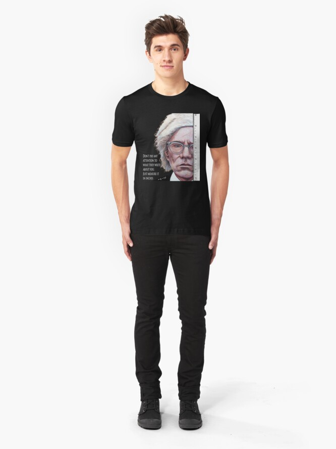 Alternate view of Advice from Warhol Slim Fit T-Shirt