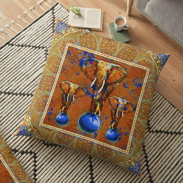 Circus elephants Floor Pillow