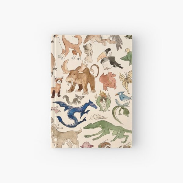 Avatar Animals print in watercolor, Avatar the Last Airbender show, Appa, Momo, turtle duck Hardcover Journal