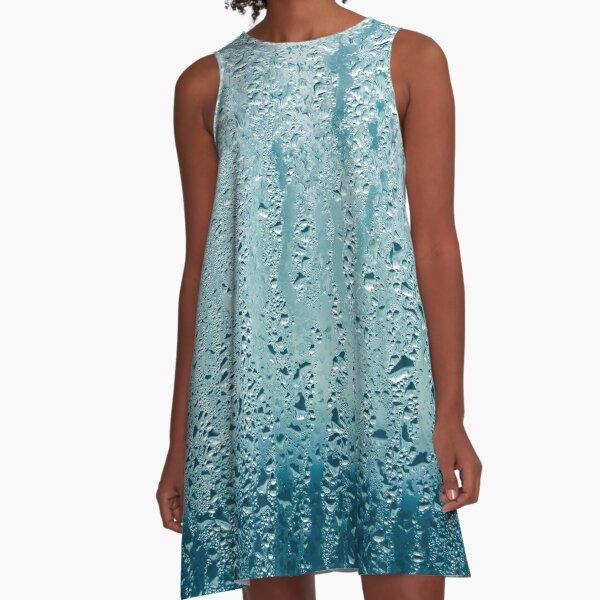 Water Droplets Rain On Glass A-Line Dress