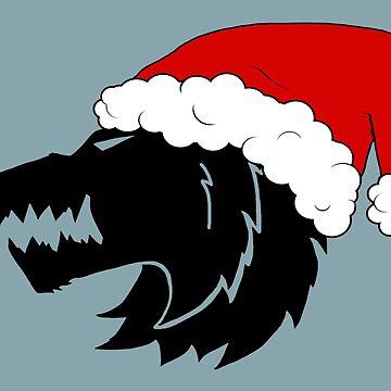 Christmas Wolf by PANDISTUDIOS