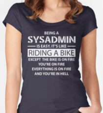 Being a SYSADMIN Women's Fitted Scoop T-Shirt