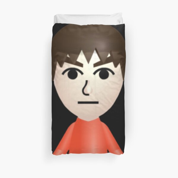 Default mii holding a wii Duvet Cover