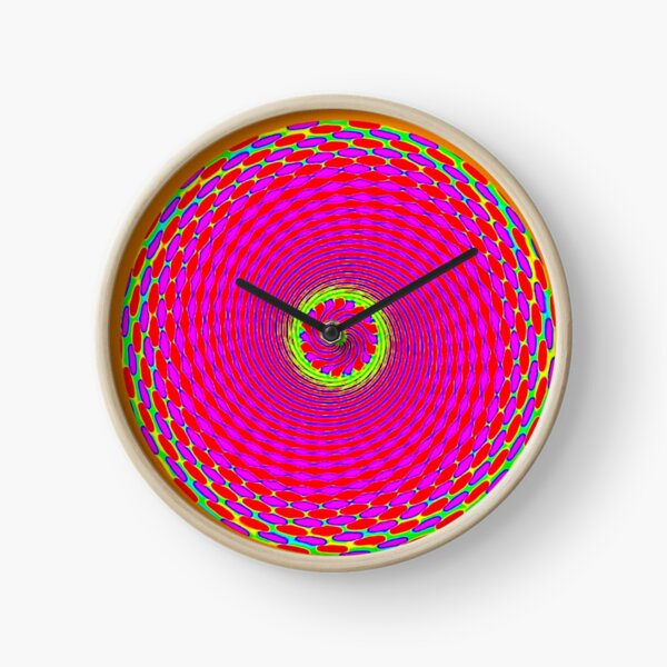 ORANGE SUNSHINE Clock