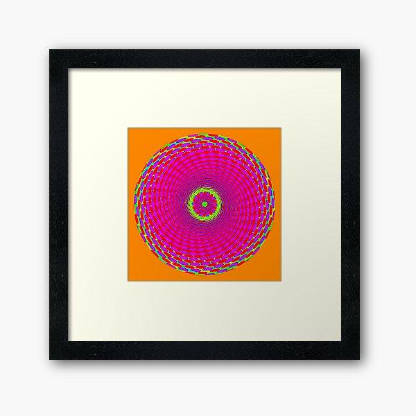 ORANGE SUNSHINE Framed Art Print