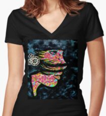 Caught In The Storm Fitted V-Neck T-Shirt