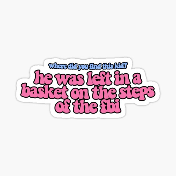 steps of the fbi quote design Sticker