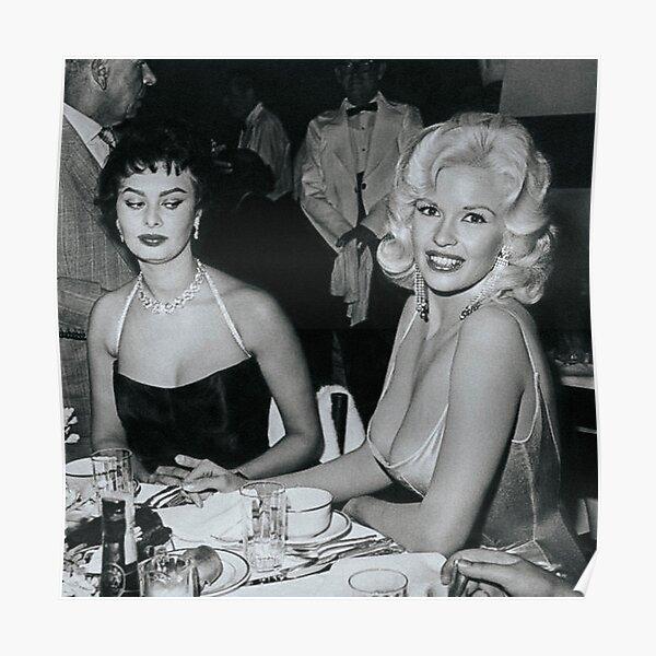 Sophia Loren and Jayne Mansfield Poster
