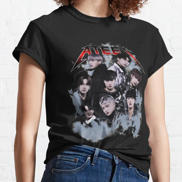 ATEEZ - Vintage 80's Rock Bootleg Classic T-Shirt