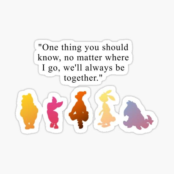 nosotros siempre estaremos juntos Pegatina