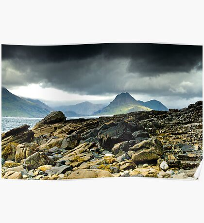 Elgol, Looking across the sea towards the Cuillins, Isle of Skye, Scotland Poster