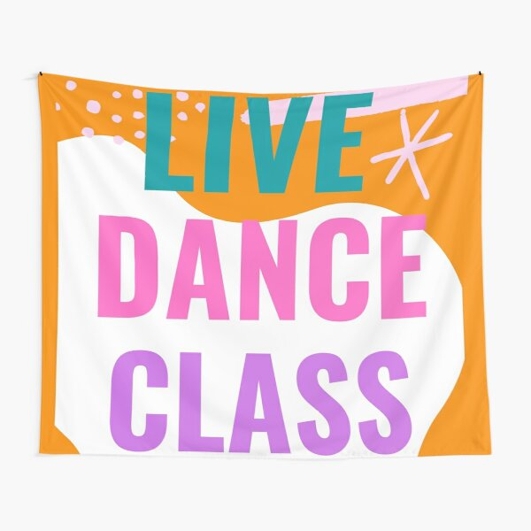 Live Dance Class Tapestry