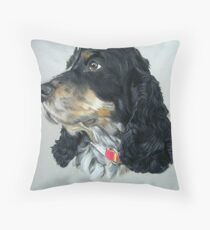 English Cocker Spaniel Dog Throw Pillow