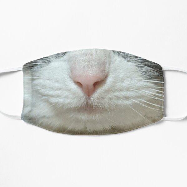 Gray Cat Face Mask Flat Mask