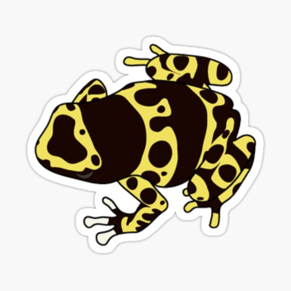 Yellow Poison Dart Frog Sticker