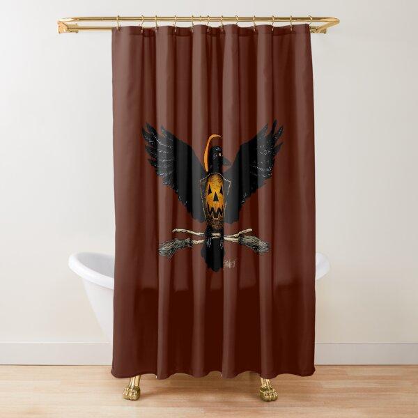 Halloween Eagle Shower Curtain