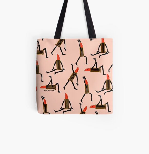 Stretching Lipsticks All Over Print Tote Bag