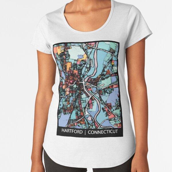 Hartford, CT Premium Scoop T-Shirt