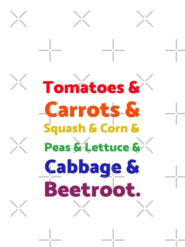 Rainbow List of Vegetables by nikkihstokes