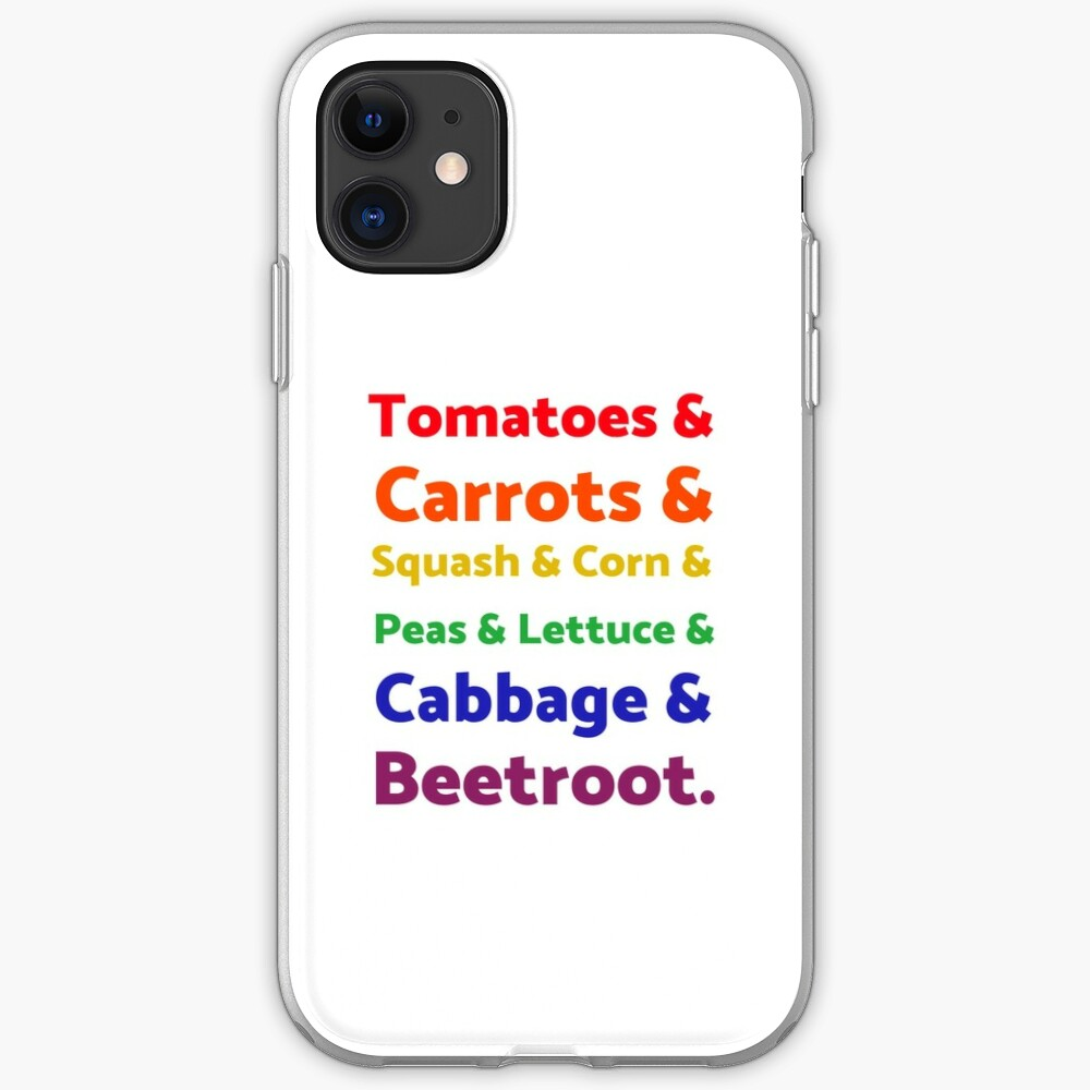 Rainbow List of Vegetables iPhone Case & Cover