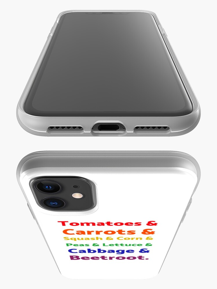 Alternate view of Rainbow List of Vegetables iPhone Case & Cover